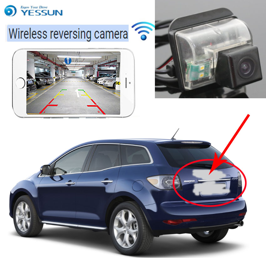 YESSUN pour Mazda CX-7 CX7 CX 7 2007 ~ 2013 caméra de recul Auto sans fil caméra de recul caméra de recul Vision nocturne