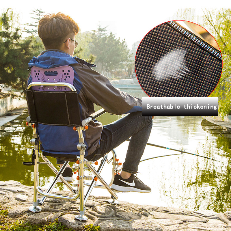 Cadeira de Acampamento para o Exterior Apoio Camping Portátil Forte Estável