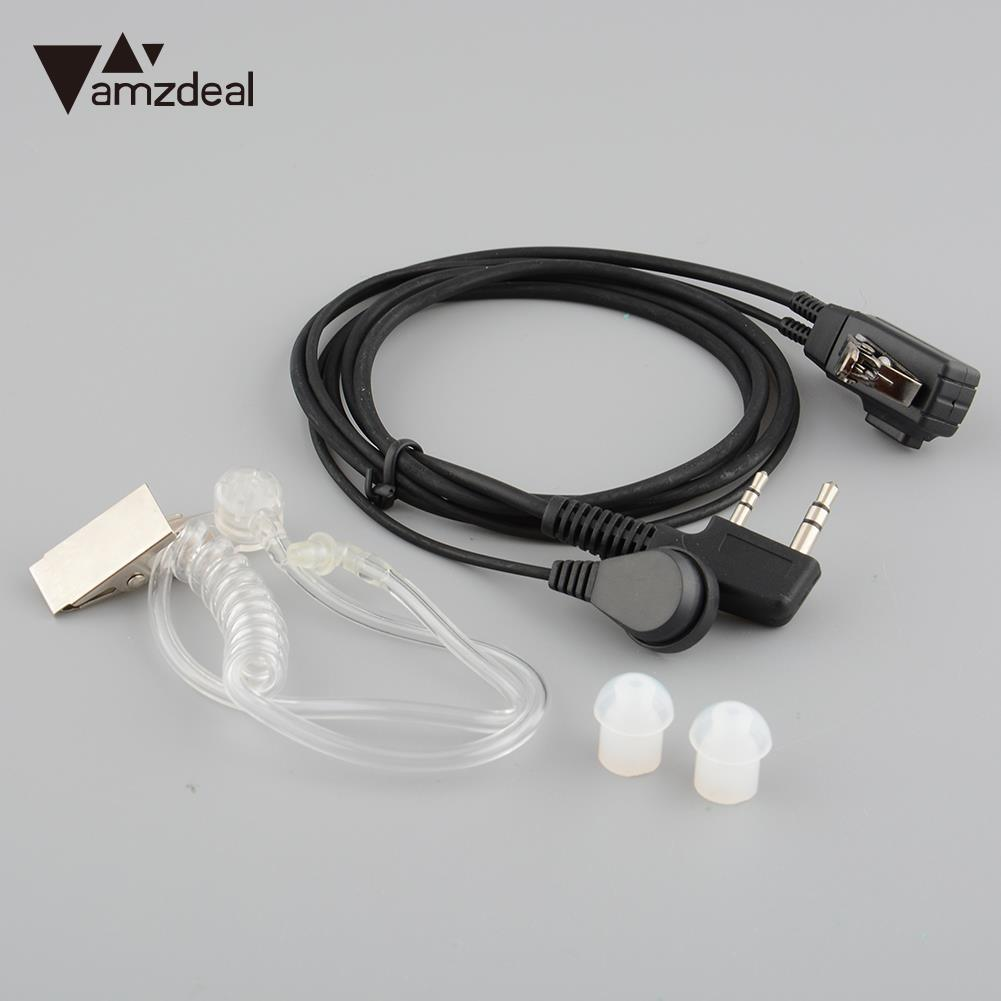 купить amzdeal Earpiece Headset Anti-noise Covert Acoustic Tube Mic Microphone Speaker For Radio for Baofeng A79 For Kenwood дешево
