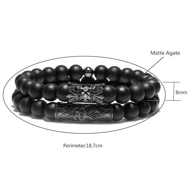 2PC Metal Piercing Flower Rivet Beads Bracelets  1
