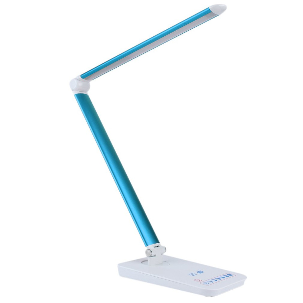 Inventory clearance new Foldable Reading Light Touch Control Rotatable Reading LED Table Desk Lamp Blue/White inventory accounting