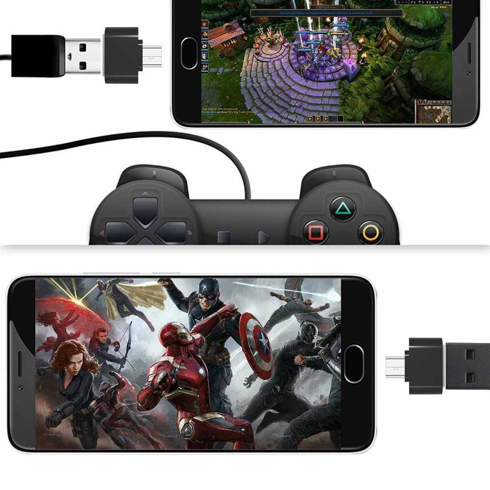 Ascromy Micro USB OTG Cho máy Xiaomi Redmi Note 5 6 Pro 6A 4X Samsung Galaxy S7 Edge S6 MicroUSB điện Thoại Android OTG Adaptador