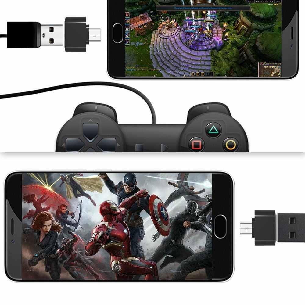 Ascromy マイクロ USB OTG アダプタ Xiaomi Redmi 注 5 6 プロ 6A 4X サムスンギャラクシー S7 エッジ S6 マイクロ Usb アンドロイド電話 OTG Adaptador