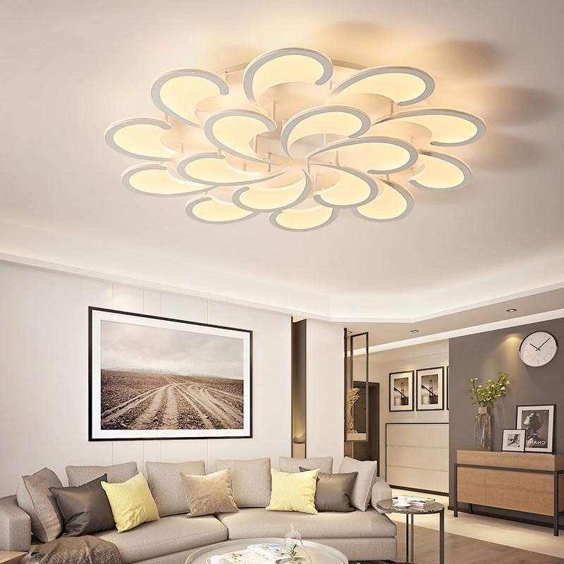 New Modern led strip Ceiling Light For Living Room Bedroom Creativity Flower Type lighting fixtures AC85V~260V Lampara de techo все цены