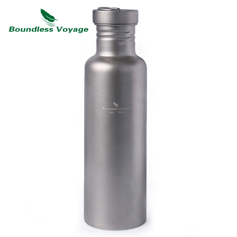 Boundless Voyage Titanium Water Bottle with Titanium Lid Outdoor Camping Cycling Hiking Tableware Drinkware 25 6oz