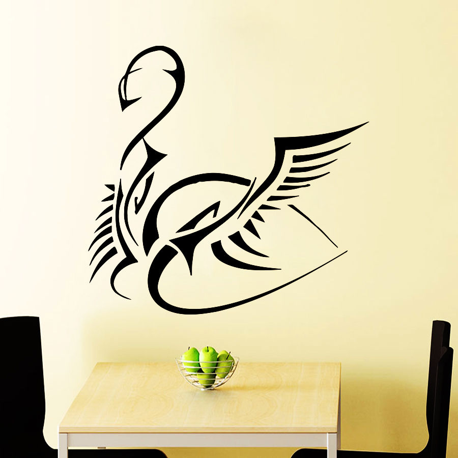 Swan Wall Decals for Kitchen Decal Vinyl Sticker Bedroom Home Decor ...