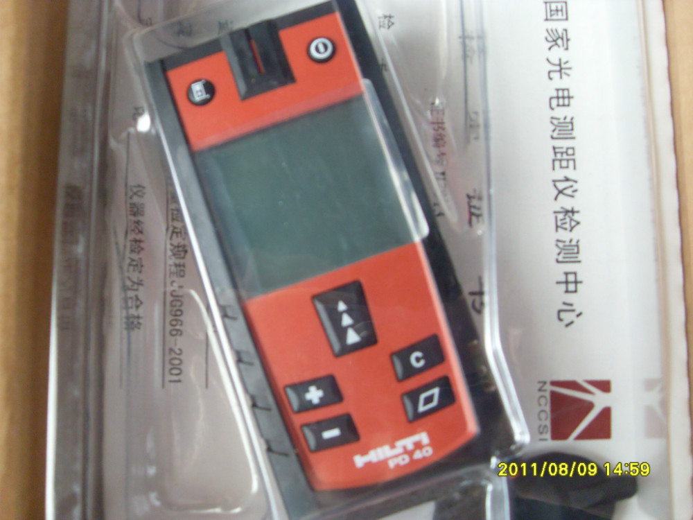 Hilti Entfernungsmesser Pd : Hilti pd 40 laser range meter 0.05 m 200 in