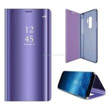 Зеркальный умный флип-кейс с окошком для Samsung Galaxy S9 9S SM-G960F G960F/DS S9 Plus S9Plus S9 + G965F G965F/DS S9 + S 9 + Чехлы