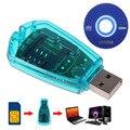 Горячая продажа! синий USB Мобильный Телефон Стандартный SIM Card Reader Copy Cloner Писатель SMS Backup GSM/CDMA + CD