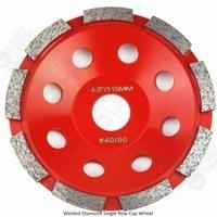 Dia 115MM Diamond Single Row Cup Wheel For Granite Hard Material Grinding Wheel Bore 22 23mm