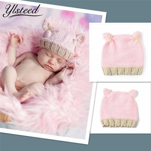 Rajutan Bayi Laki-laki Perempuan Topi Musim Dingin Baru Lahir Fotografi  Alat Peraga Bonnet Topi 6503567280