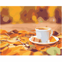 WEEN Coffee Cup - DIY Oil Painting Drawing with Brushes Paint, Paint by Number Kit for Adults, Kids 40x50cm