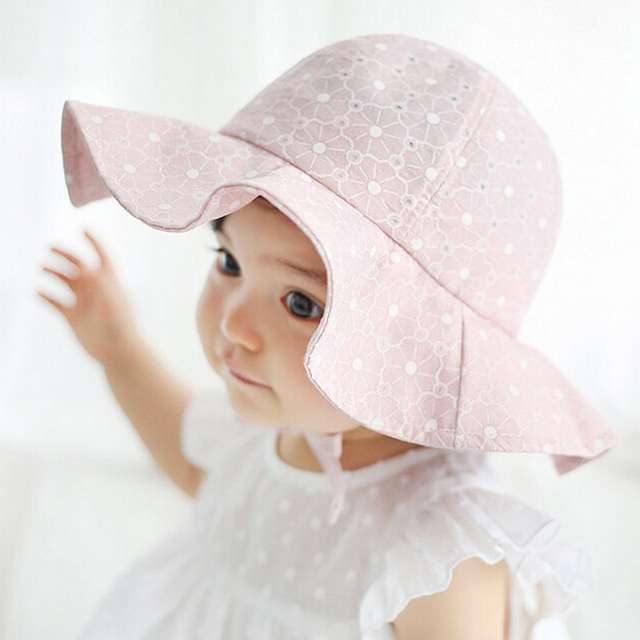 29ae94bf644534 Online Shop Infant Summer Outdoor Baby Girl Visor Cotton Sun Cap Floral  Print Pink White Beach Bucket Hats LY2 | Aliexpress Mobile