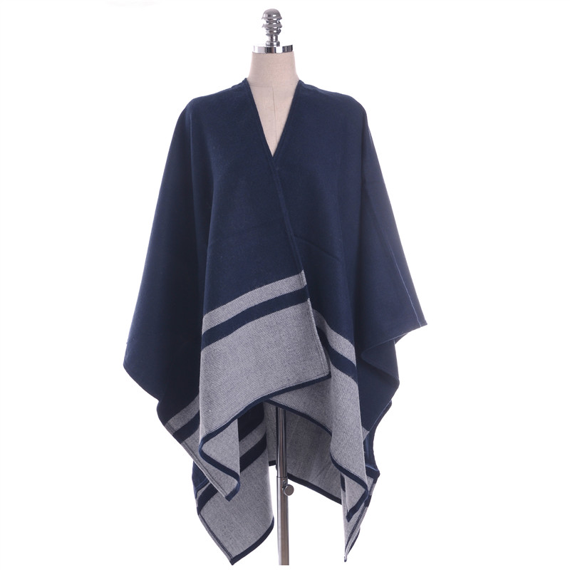2017 New Brand Women's Winter Poncho Vintage Blanket Women's Pashmina For Lady Knitted Shawl Cape Cashmere Scarf 130*150CM