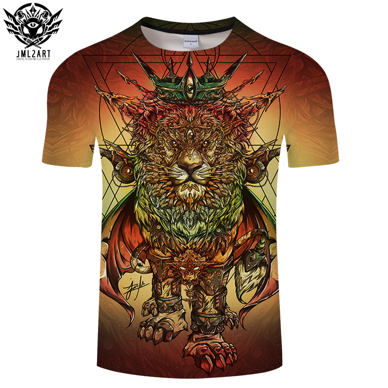 Lion Ras Colors By jml2Art 3D Print T shirt Men Summer Cartoon ShortSleeve Top&Tee BoyTshirt Streatwear HipHop Camiseta DropShip