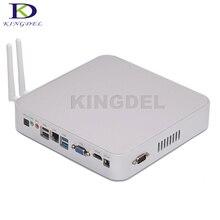 Kingdel más reciente sin ventilador htpc ordenador intel celeron n3150 kodi quad núcleo Mini PC Windows 10 HDMI VGA COM USB3.0 Óptica equipo