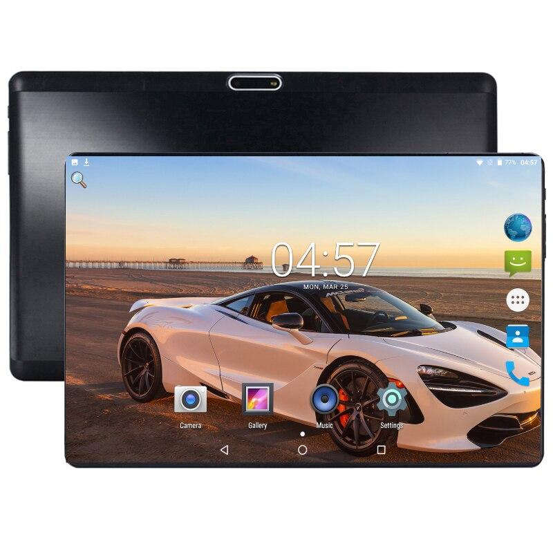 Nouveau Design 10 pouces android 8.0 tablette Pc 4 GB 64 GB 2.5D verre 1280*800 IPS double carte SIM 5mp caméra tablette 8 Core CPU Pad 10