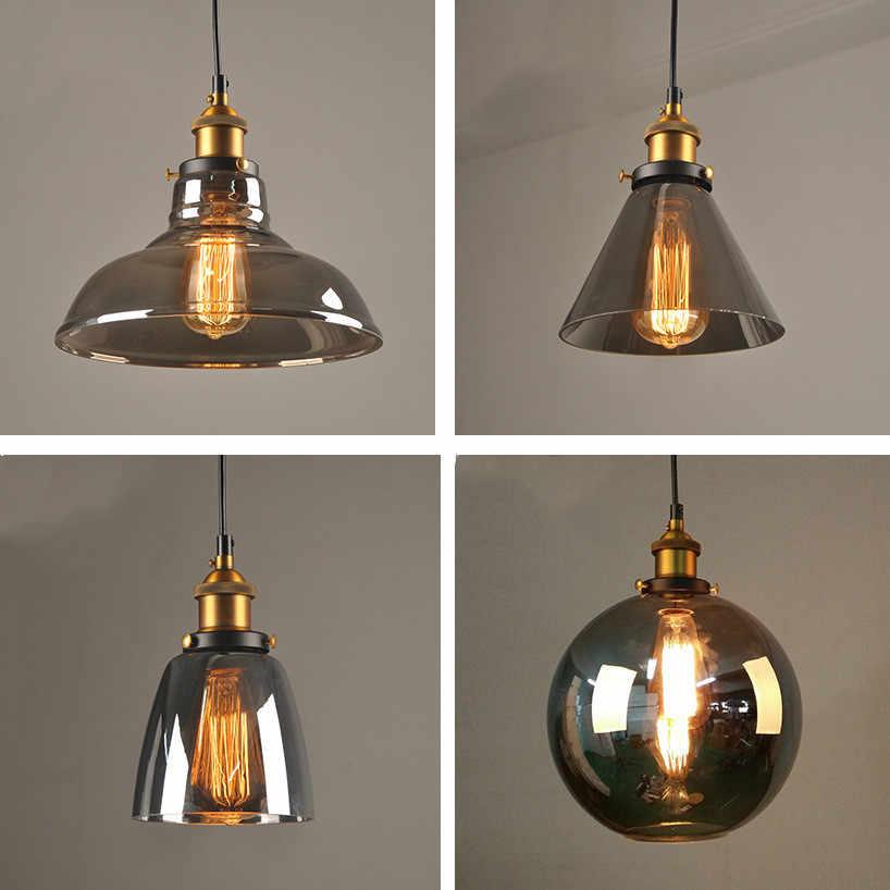 Lampes suspendues Vintage nordiques lampe en verre Loft cuisine salle à manger éclairage rétro café Bar Restaurant lampe suspendue lampe industrielle
