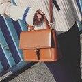 Óleo de Cera do vintage de Couro Pu Pequenas Mulheres Mensageiro Sacos Marca Designer Feminino Bolsa de Ombro sac a principal