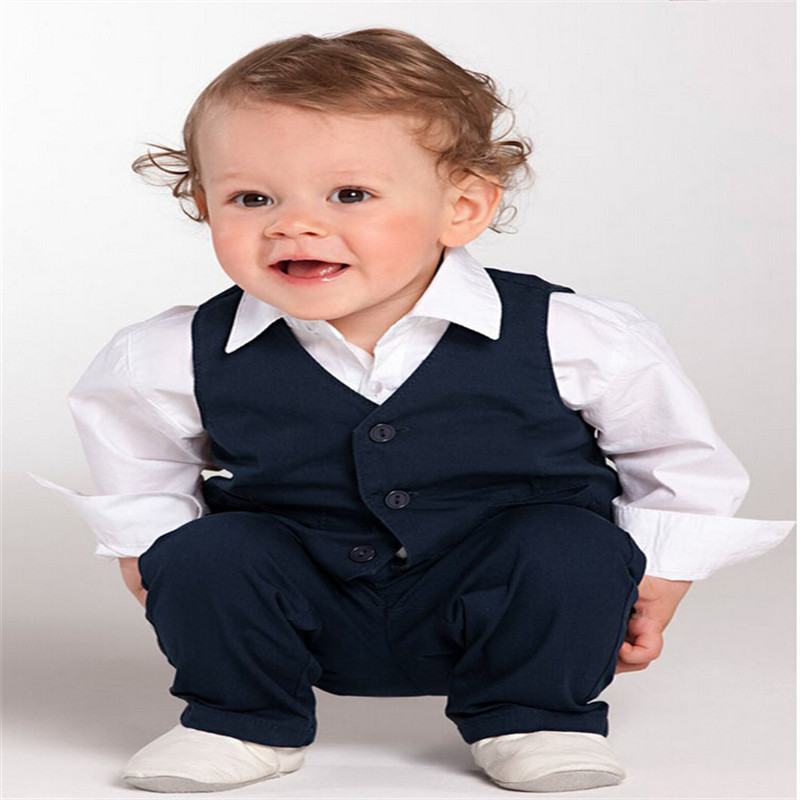 Children Suits Baby Toddlers Boy Formal Wedding Pageant Suit Shirt Pants Waistcoat Set 6M 5Yrs ...