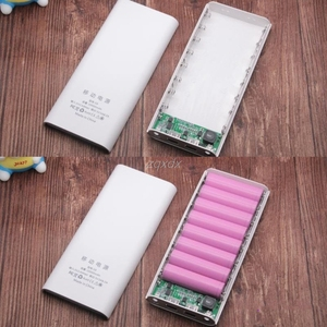 Image 4 - Dual USB 8x 18650 Battery DIY Holder LCD Display Power Bank Case Box For iphone