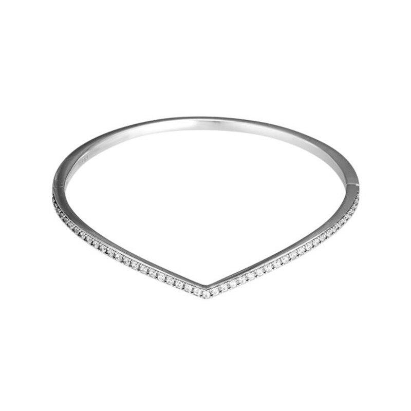 PANDULASO 2019 printemps chatoyant souhait Bracelet Bracelet charmes argent 925 Original Wishbone Bracelets Bracelets femmes bijoux-in Bracelets from Bijoux et Accessoires    2
