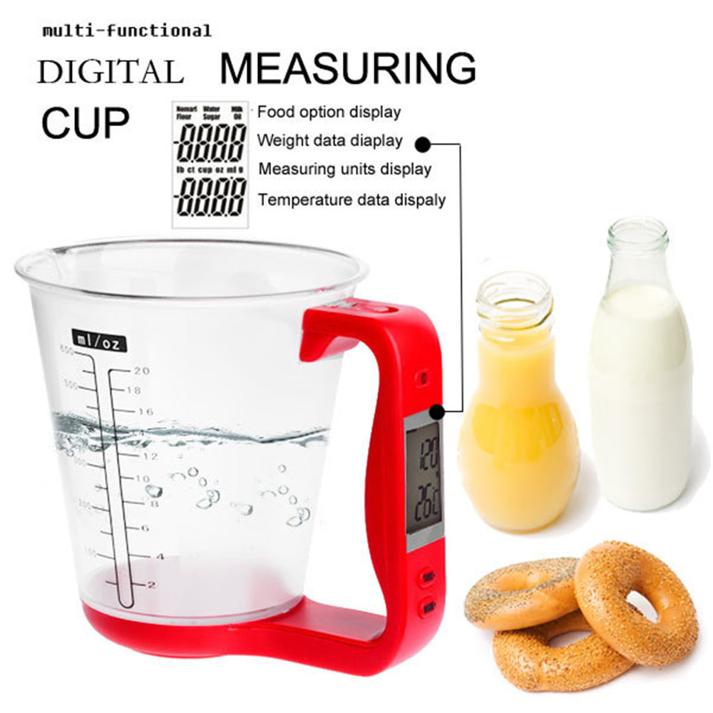 <font><b>Digital</b></font> <font><b>measuring</b></font> <font><b>cup</b></font> scale Kitchen Cooking tools All in One electronic LCD Display multifunction NEW Red kitchen <font><b>measuring</b></font> <font><b>cup</b></font>