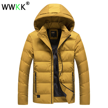 WWKK Winter Jacket Men Warm Big Size Parka Coat 2019 Thicken High Quality Teen Male Cotton-Padded Parkas Hooded Thick Warm Coats