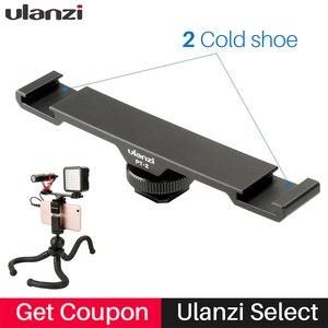 Image 1 - Ulanzi Aluminium Microfoon Dual Cold Shoe Mount Extension Bar Plaat Vlogging Accessoire Voor Statief Video Light Camera Filmmakers