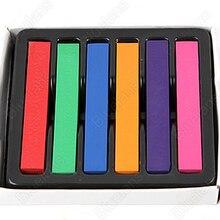 2015 (Min.  Mix Order) 6 Hair Chalk Easy Temporary Colors Hair Chalk Dye Soft Hair Pastels Kit  Hair Beauty Care 00FC 5WII 7GPV