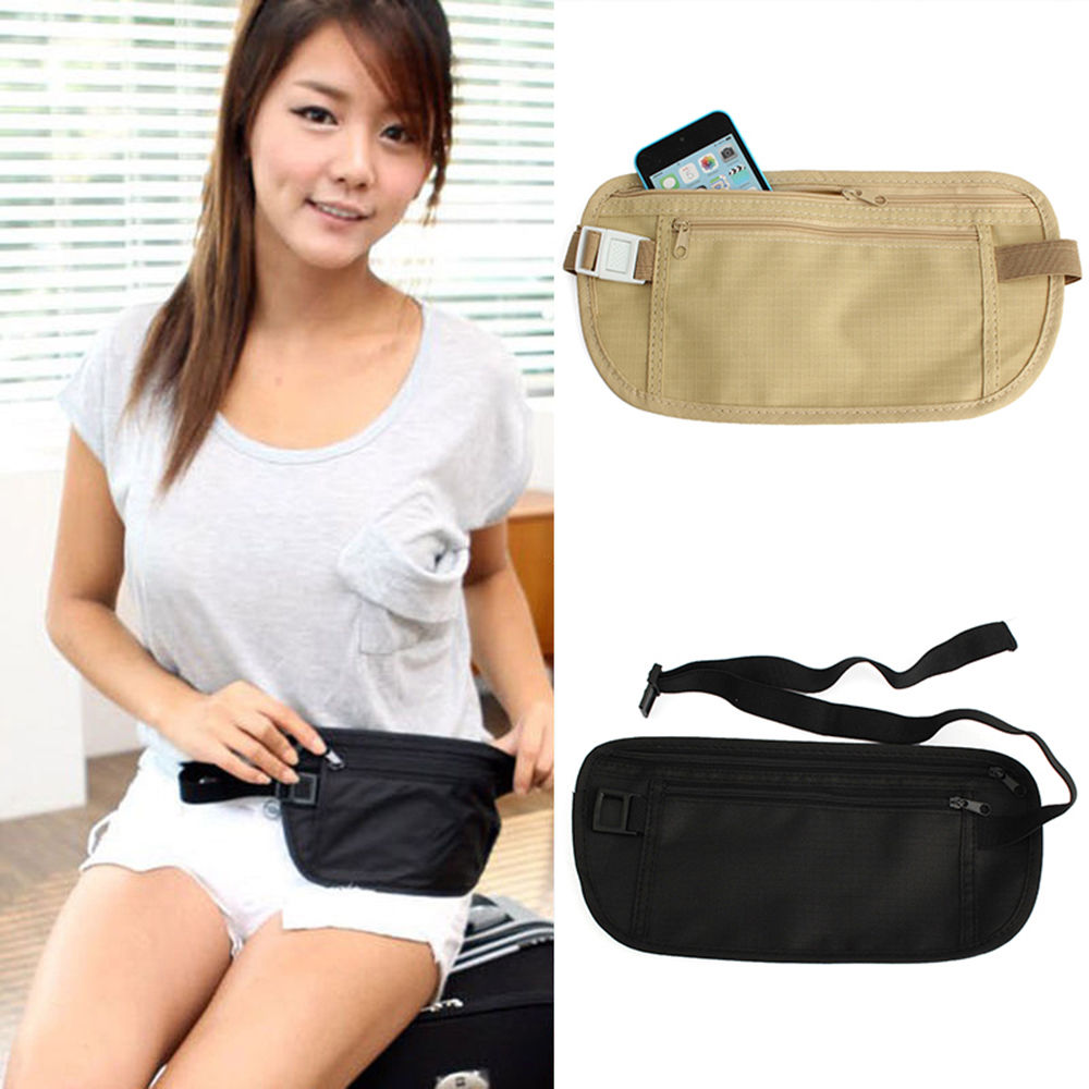 Galleria fotografica Unisex Travel Bum Bag Handy Hiking Sport Fanny Pack Waist Belt Zip Pouch Fitness Equipment Accessories
