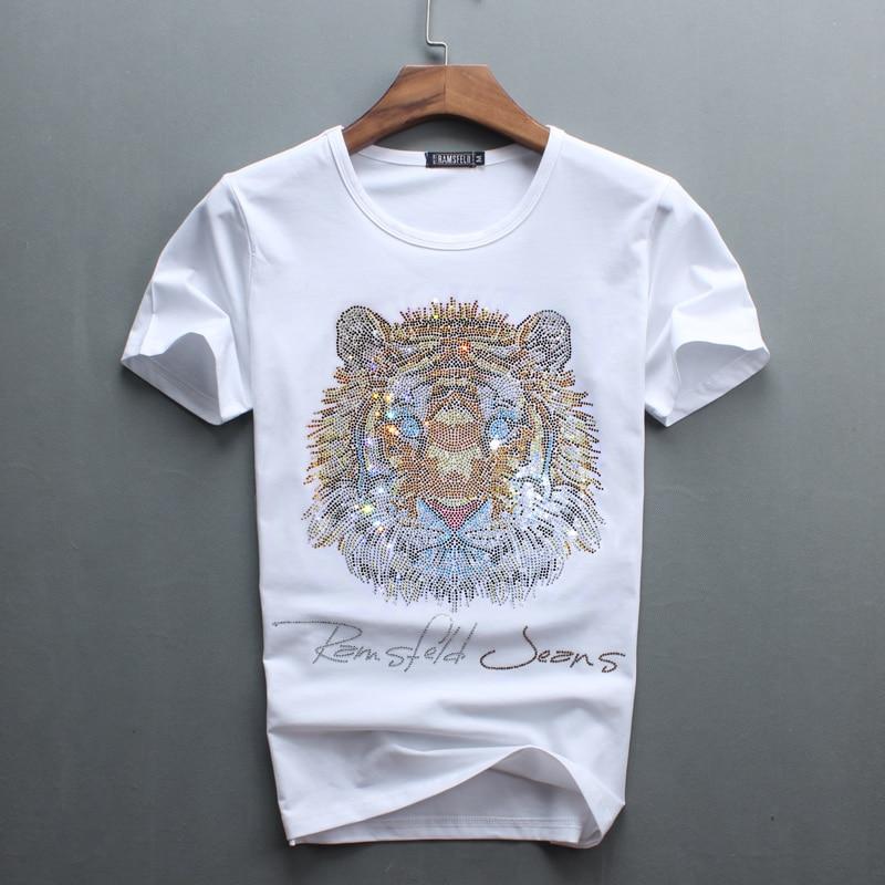 Partihandel Hot Sale Sale O-Neck Men Luxury Diamond Design Tshirt - Herrkläder - Foto 3