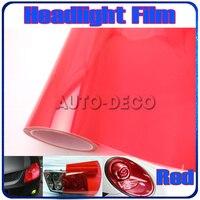 Hot-bán Red Car Khói Sương Mù Ánh Sáng Đèn Pha Film Auto Đèn Hậu Tint Vinyl 13 màu sắc tùy chọn FedEx Miễn Phí Vận Chuyển 0.3*10 m/cuộn
