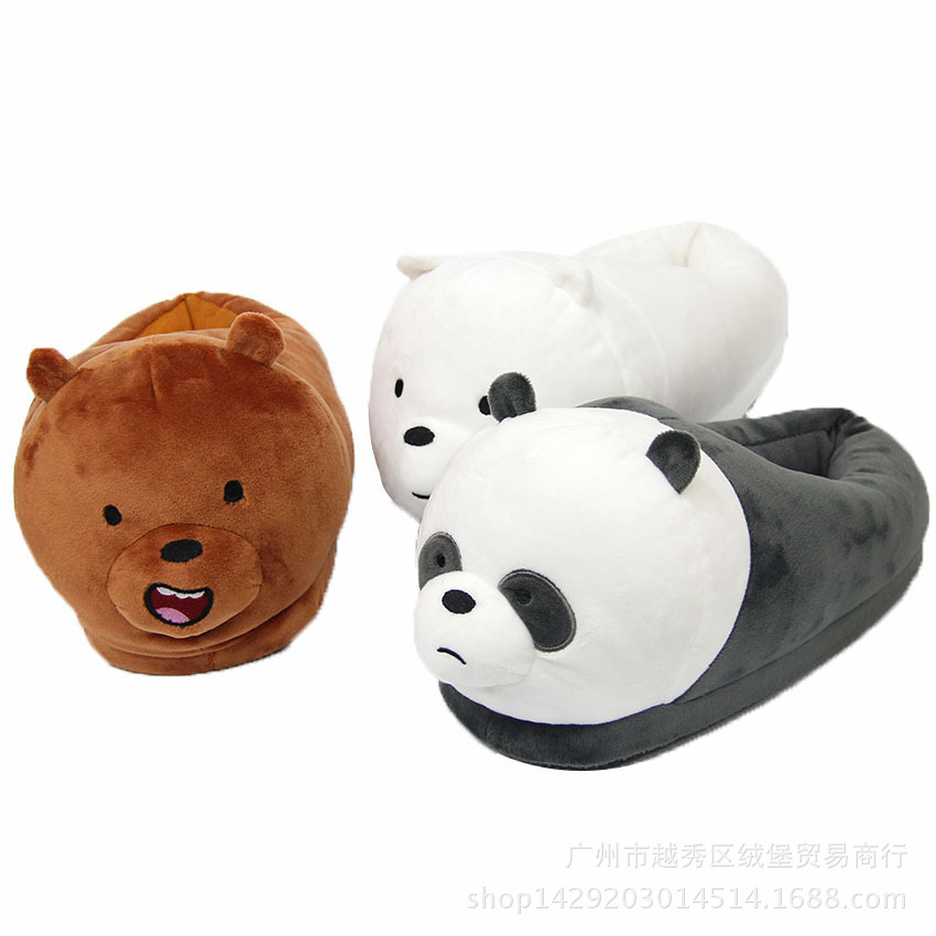 free shipping d23a8 877cc US $15.95 30% OFF adult cartoon indoor slippers furry fluffy rihanna winter  slides fur flip flops women shoes house with mules platform plush-in ...