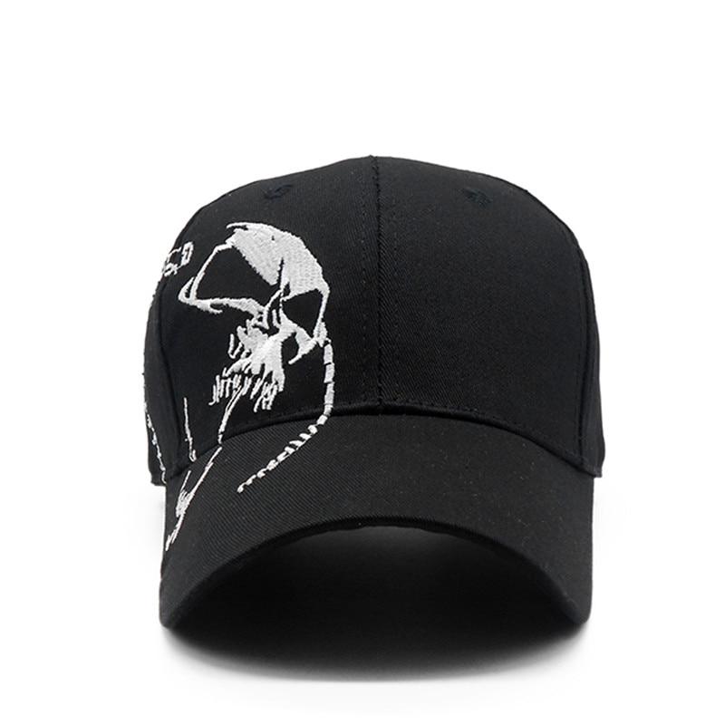 Embroidered Skull Cap for Men Cotton Sports Baseball Caps Fashion Pattern Women Army Male Cap Hip Hop Bone