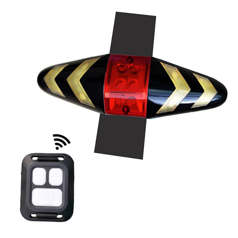 Bicycle rear light Wireless Bike Turning Light LED Taillight with Rear Turn Signal mode taillight Rear safety lights fjqxz led 3 mode white bike helmet taillight lamp black 2 x cr2032