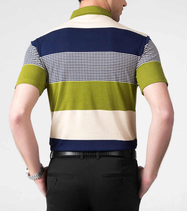 2018 Top Quality Summer Short Sleeve POLO Shirt fashion Style Summer Striped Short sleeve polo shirt men