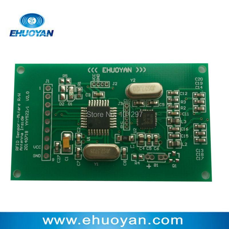 bilder für 13,56 MHz 14443 A Rfid Nfc-lesegerät/Schriftsteller Modul 2,7-3,6 V UART YHY522 + SDK + 2 Tags