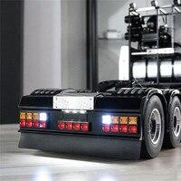 Светодиодный квадратный задний световой сигнал набора с заднего бампера для Tamiya по супер скидке все 1/14 для Scania R620 R470 DIY аксессуары модификац