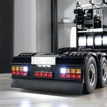 LED cuadrado trasero de la luz de señal con parachoques trasero para Tamiya 1/14 para hombre Scania R620 R470 DIY accesorios de coche modificados