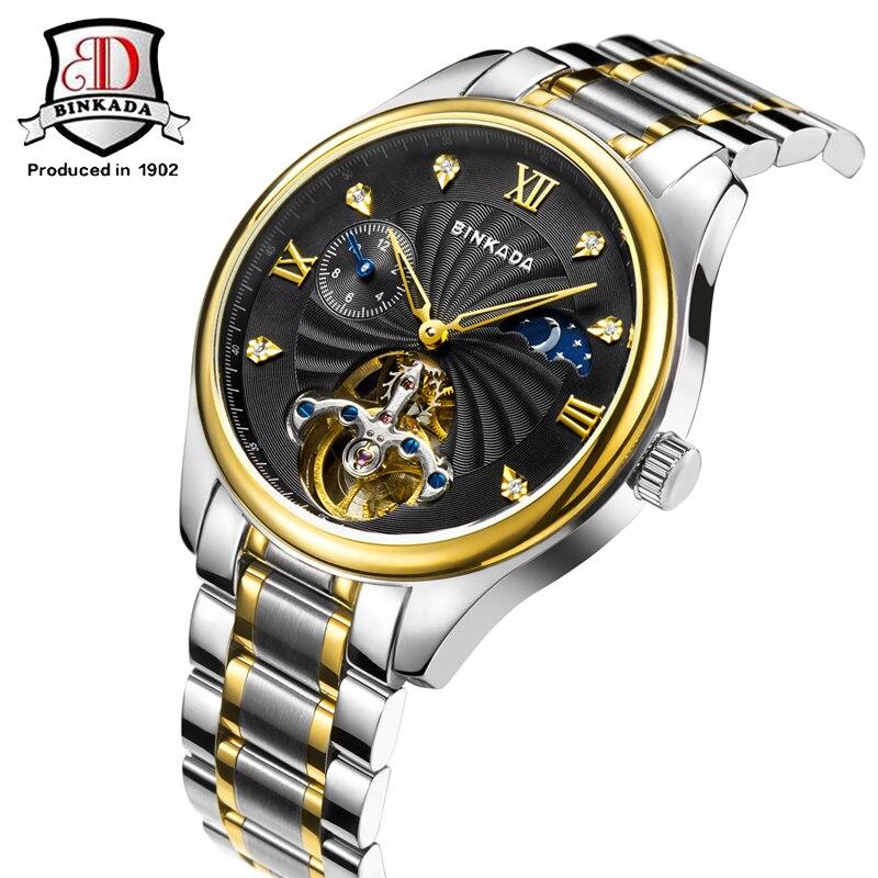 Marca BINKADA Reloj Hombre Reloj de cerámica Relojes mecánicos a - Relojes para hombres - foto 2