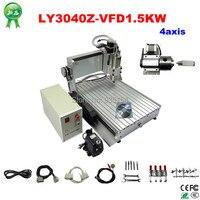 Assembled&Test well 3D CNC machine 3040 CNC Router cnc engraving machine 1500w spindle drilling lathe