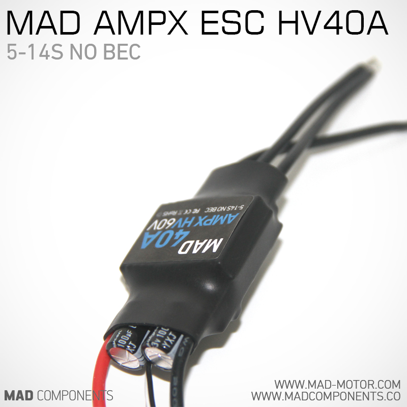 MAD AMPX ESC 40A 5-14S w/o BEC for Brushless motor for RC long range multirotor quadcopter Drone F450 S500 S550 RC Helicopter