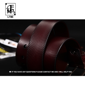 Image 4 - [LFMB] Belt Men Genuine Leather Designer Belts Men High Quality Luxury  Male Strap Cinturones Hombre Free Shipping