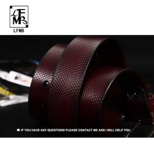 Image 4 - [LFMB] حزام الرجال جلد طبيعي مصمم أحزمة الرجال عالية الجودة الفاخرة الذكور حزام Cinturones Hombre شحن مجاني