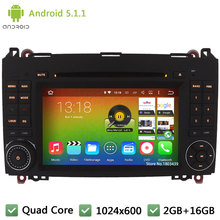 Quad core Android 5.1.1 1024*600 Car DVD Player Radio Audio Stereo Screen GPS For Benz A-class W169 A150 A170 Viano Vito W639