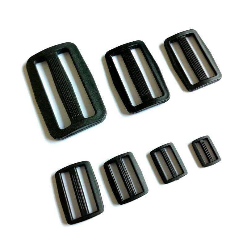Buckles & Hooks Persevering 10pcs Plastic Black Curve Slider 50/38/32mm Webbing Buckles Tri-glide Adjust Tri-ring Camping Sport Backpack Straps Accessories Aesthetic Appearance Apparel Sewing & Fabric