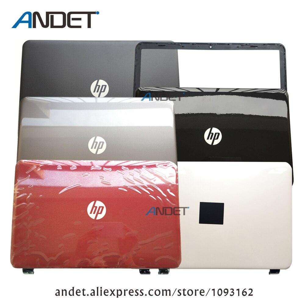 Nuovo Originale per HP 15-G 15-H 15-R 15-T Lcd Posteriore Back Top Cover + Front Bezel Custodia Nero Rosso Opaco lucido