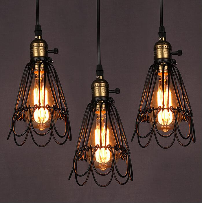 Wire Technology  Droplight wind Restoring Ancient Ways American Country Warehouse Droplight With Dining Room E27