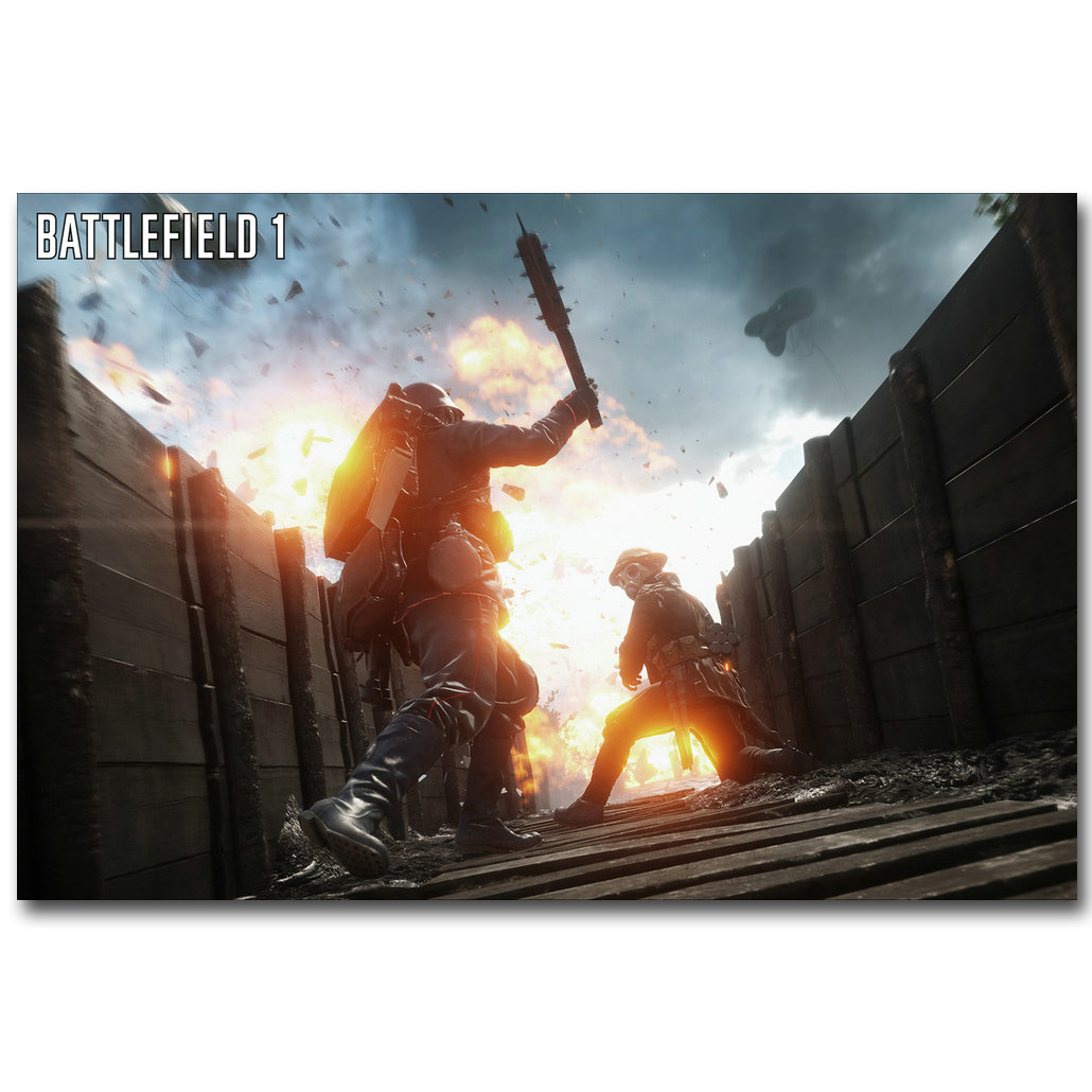 battlefield bf 1 4 art silk fabric poster print 13x20 24x36inch hot game soldier pictures for